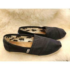 TOMS Sz 6 Womens CLASSIC  Canvas shoes black